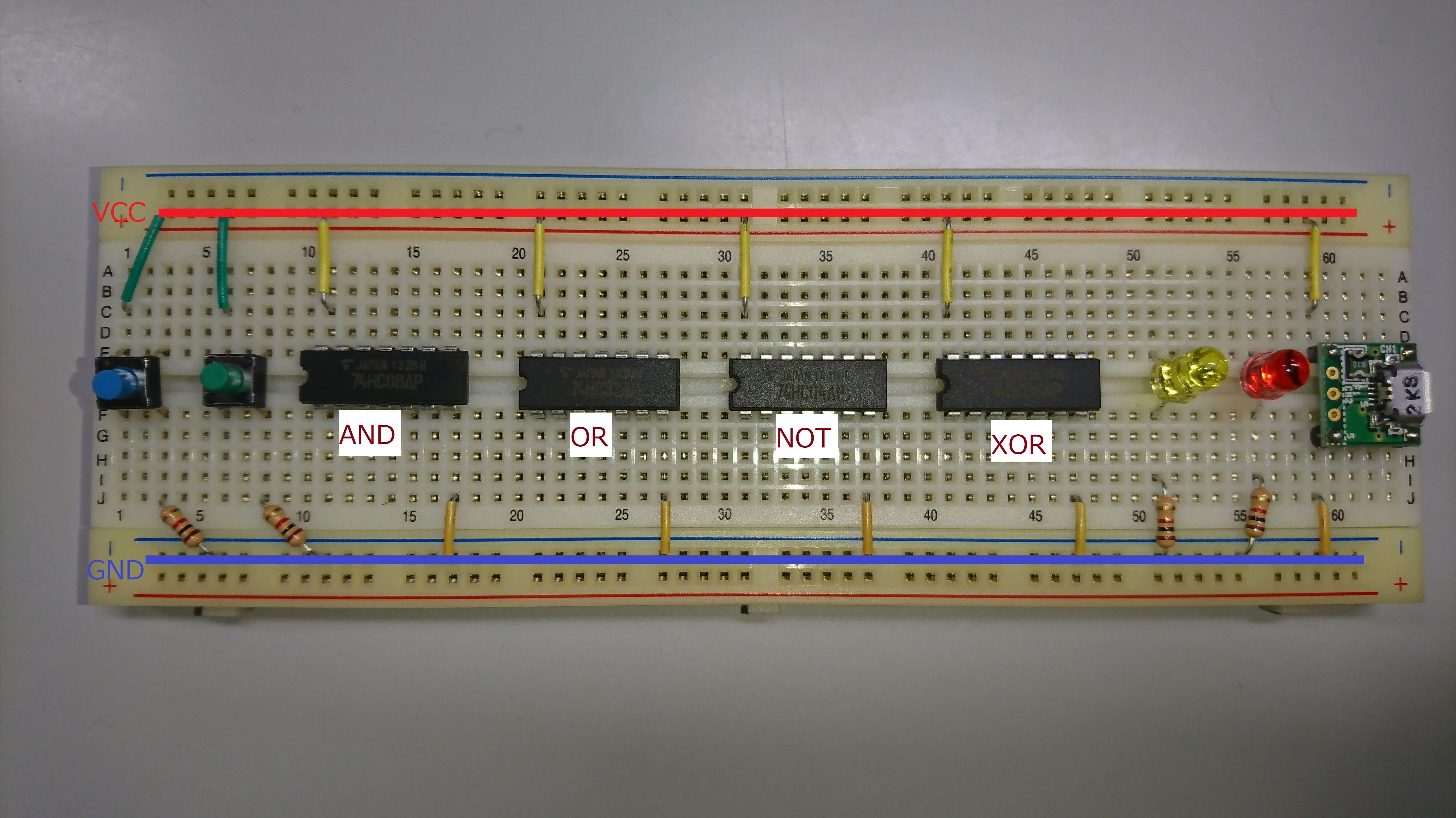 論理回路配線図