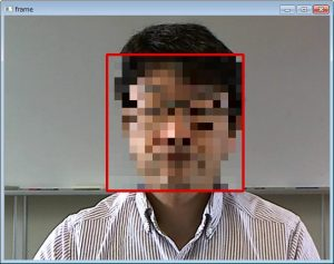顔認識の結果